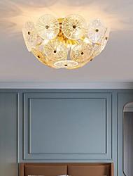 cheap -55 cm Flush Mount Ceiling Light Luxury Gold Modern Warm White+White+Neutral Light For Bedroom Living Room Office 110-120V 220-240V