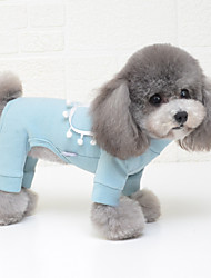 cheap -Dog Coat Jumpsuit Solid Colored Casual / Sporty Cute Casual / Daily Winter Dog Clothes Puppy Clothes Dog Outfits Breathable Yellow Blue Pink Costume for Girl and Boy Dog Cotton S M L XL XXL