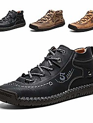 cheap -comfortable mens casual shoes leather loafers walking breathable lightweight driving shoe boots black