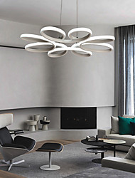 cheap -1-Light 58 cm Dimmable / Dimmable With Remote Control Pendant Light Aluminum Silica gel White Modern Contemporary 90-240V