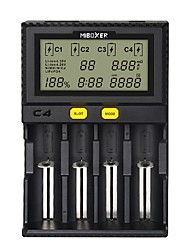cheap -MiBOXER Intelligent Universal 1.5A 4 Bay LCD Display Battery Charger for 18650 Li-ion LiFePO4 Ni-MH Ni-Cd AA 21700 18490 17670 R13650 17355 16340