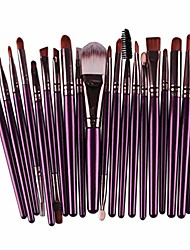 cheap -20pcs fashion make up brush set, professional makeup brushes kits cosmetic tools kit valentine gift & #40;purple   coffee& #41;