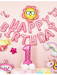 cheap -Party Balloons 18+10 pcs One Year Old Party Supplies Latex Balloons Banner Boys and Girls Party Birthday Decoration 12inch for Party Favors Supplies or Home Decoration