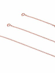 """cheap -3 pieces 925 sterling silver pendant necklace bracelet anklet chain extenders for necklace 14k gold plated rose gold plated 2"""" 3"""" 4"""""""