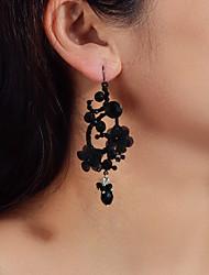 cheap -Women's Dangle Earrings Geometrical Petal Fashion Earrings Jewelry Black For Party Evening Date