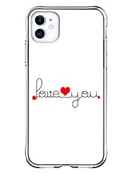 cheap -Personalized Customized Case For Apple iPhone 11 / iPhone 11 Pro / iPhone 11 Pro Max Shockproof / Ultra-thin / Transparent Back Cover Heart / Text Soft TPU