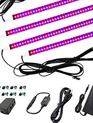 cheap -4x1M Light Sets LED Grow Light for Indoor Plants Growing Light Fixture 240 LEDs 5050 SMD 1Set Mounting Bracket 12V 3A Adapter 1 set 4 Red+1 Blue 5Red+1Blue 3Red+1Blue Waterproof Cuttable Decorative