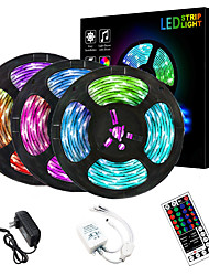 cheap -3x5M LED Strip Lights RGB Tiktok Lights Flexible 900 LEDs 2835 SMD 8mm 1 To 3 Cable Connector with IR 44 Key Double Outlet Controller DC12V