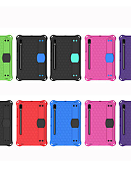 cheap -Case For Samsung Galaxy Samsung Tab A 10.1 2019 T510 Samsung Tab A 10.1 2019 T515 Tab S6 Lite SM-P610 615 Shockproof with Stand Back Cover Solid Colored Silica Gel