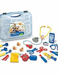 billige -lade som om& leg lægesæt, lægesæt til børn, medicinsk legetøj, 19 stykker, blå, i alderen 3+