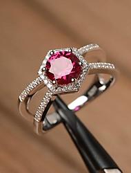 cheap -Band Ring AAA Cubic Zirconia Geometrical Silver Copper Flower Shape Elegant Trendy 1pc 6 7 8 9 10 / Women's