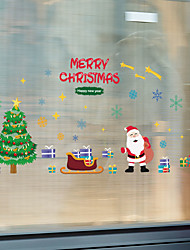 cheap -WallDecals Decor Vinyl DIY Christmas Tree Wall Stickers Removable Waterproof Wallpaper Decals Art Easy Peel & Stick 30*90*2CM