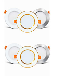 cheap -6pcs 4pcs Driverless LED Recessed Downlight 2-in-1 3W LED Ceiling Spot light Bedroom Indoor Lighting AC85-265V hole size 50-60mm