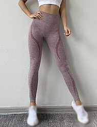 cheap -Women's Running Tights Leggings Compression Pants Athleisure Tights Leggings Bottoms Nylon Spandex Winter Fitness Gym Workout Performance Running Training Tummy Control Butt Lift Breathable Sport
