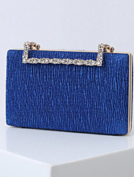 cheap -Women's Bags Polyester Alloy Evening Bag Glitter Crystals Solid Color Handbags Wedding Event / Party Black Blue Red Champagne