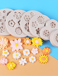 cheap -Silicone Baking Molds Flower Shape Series Chocolate Fondant Cakes Decor Baking Molds
