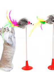 cheap -Teaser Feather Toy Interactive Toy Cat Toys Set Cat Pet Toy 1pc Pet Exercise Releasing Pressure Plastic Gift