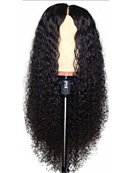 cheap -Synthetic Wig Curly Afro Curly Middle Part Wig Long Black Synthetic Hair 26 inch Women's Party Classic Comfortable Black