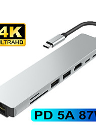 cheap -Type C to HDMI Hub USB C 4K PD 5A 87W Dock Rj45 Lan USB 3.1 Splitter USB-C Power Delivery Accessories