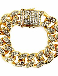 cheap -20mm iced out chain bracelet for men women lab diamond hip hop gold plated miami cuban link chain bangle gold 9inch