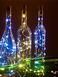 cheap -LED Wine Bottle Lights Cork Shape DIY Decoration 2m 20 LED 10pcs 8pcs 4pcs 1pc Colorful Fairy String Light for Christmas Party Wedding without battery