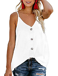 cheap -women& #39;s 2020 fashion button down v neck tops loose casual short sleeve shirts blouses white xx-large
