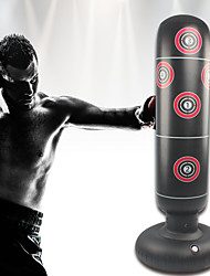 cheap -Inflatable Boxing Punching Bag for Kung Fu Martial Arts MMA Grappling Kickboxing Freestanding Flexible Empty Non-toxic Relieves Stress Strength Training Crossfit Black / Kid's
