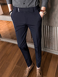cheap -Men's Suits Notch Standard Fit No Buttons Striped Spandex Polyester