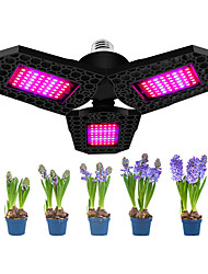 cheap -1pcs 108 LED Growth Lamp for Indoor Plants Diamond Shaped Wide Spectrum Folding Plants Lamp Bulbs Hydroponic Growth Light Full Spectrum Plant Growth Light