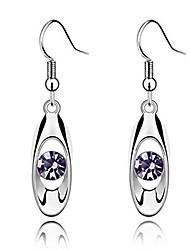 cheap -iumer fashion crystal drop earring oval dangle earrings