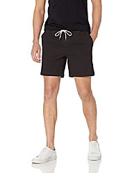 """cheap -but& #39;s slim-fit 7"""" inseam pull-on comfort stretch canvas short, black, x-small"""