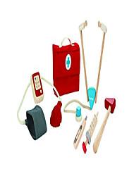 billige -læge dr. sæt med træstetoskop (3451) | bæredygtigt fremstillet af gummitræ og ikke-giftige malinger og farvestoffer