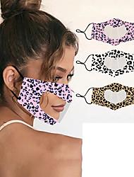 cheap -Lip Language for Deaf and Dumb PET Heart-shaped Transparent Printing Anti-fog Masks