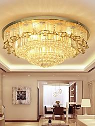 cheap -80 cm Flush Mount Ceiling Light Chandelier Luxury Gold Crystal 110-120V 220-240V