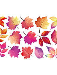 cheap -Maple Leaves Self Adhesive Wall Stickers Creative Children's Room Wall Decoration