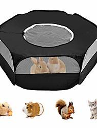 رخيصةأون -روضة الحيوانات الصغيرة ، خيمة قفص روضة الحيوانات الأليفة الشفافة المحمولة مع غطاء لخنزير غينيا والأرانب والهامستر والشنشيلة والقنافذ