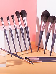 cheap -Makeup Brushes 13 Pcs Purple Makeup Brush Set Premium Synthetic  Foundation Blending Face Powder Mineral Eyeshadow Make Up Brushes Set