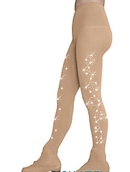 cheap -Over The Boot Figure Skating Tights Women's Girls' Ice Skating Tights Dusty Rose Khaki Spandex High Elasticity Training Competition Skating Wear Warm Crystal / Rhinestone Ice Skating Winter Sports