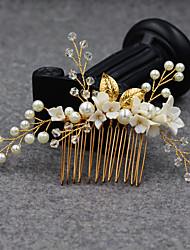 cheap -Modern Euramerican Crystal / Imitation Pearl / Alloy Headpiece / Hair Accessory with Crystal / Pearl / Petal 1 PC Wedding / Party / Evening Headpiece