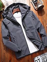 cheap -Men's Hiking Jacket Outdoor Thermal Warm Waterproof Windproof Breathable Jacket Top Outdoor Dark Grey Black Red Army Green Dark Blue