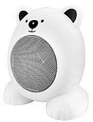 cheap -portable space heater,mini cute personal desktop ceramic heater with over-heat & anti-tip protection,simple quiet electric fan heating air conditioning christmas gift for home office (white)
