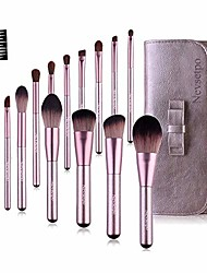 cheap -quality makeup brushes professional premium cosmetic brush set for eye shadow foundation blush lip powder liquid cream blending brushes perfect for makeup artist & #40;purple& #41;