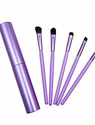 cheap -makeup palettes 5pcs portable mini eye makeup brushes set eyeshadow eyeliner cosmetic tools purple