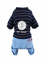 cheap -pet baby bear printed striped dog clothes pet costumes puppy outfit clothing ofr small dogs chihuahua pug bulldog jacket coat - size xs (black)