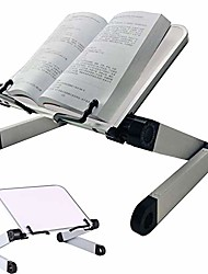 cheap -book stand adjustable height and angle ergonomic book holder with page paper clips for big heavy textbooks music books tablet cook recipe durable lightweight aluminum book holder collapsible