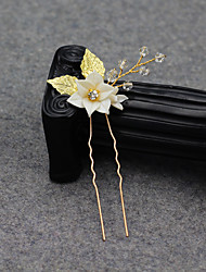 cheap -Modern Euramerican Crystal / Alloy Headpiece / Hair Accessory with Crystal / Petal 1 PC Wedding / Party / Evening Headpiece