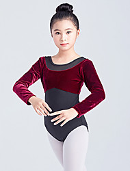 cheap -Ballet Dress Split Joint Girls' Training Performance Long Sleeve High Mesh Spandex