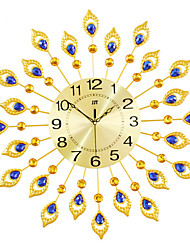 cheap -Modern 21 inch Metal Wall Clock Golden Dial with Arabic and Crystal Decoration ,Non-Ticking Silent Digital Golden Drop Clock Home Decor for Bedroom,Kitchen and Large Areas Space