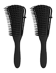 cheap -detangling brush for black natural hair,  2 pack hair detangler brush for afro textured 3a to 4c curly coily wet thick kinky wave natural long hair, black