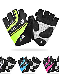 cheap -Nuckily Bike Gloves / Cycling Gloves Mountain Bike Gloves Mountain Bike MTB Road Bike Cycling Anti-Slip Breathable Shockproof Protective Fingerless Gloves Half Finger Sports Gloves Terry Cloth Black